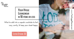 hygge loungewear with 10 items or less
