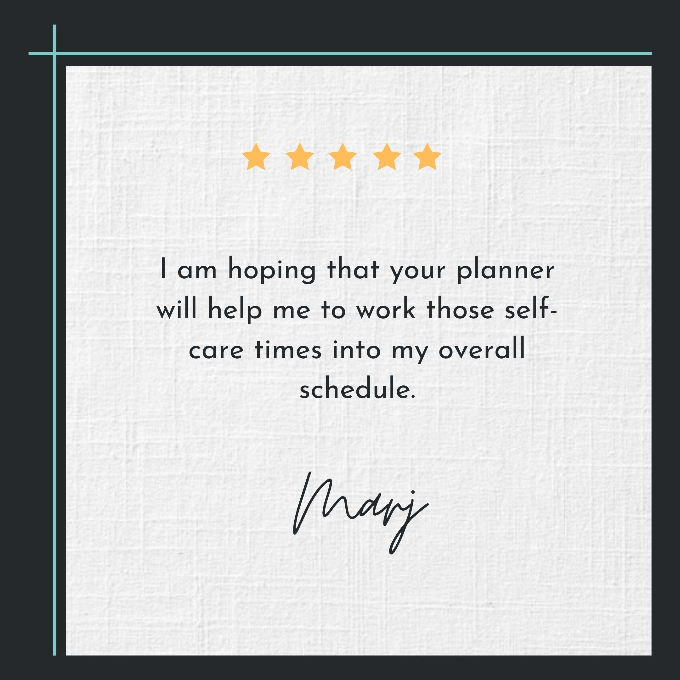 hygge planner testimonial