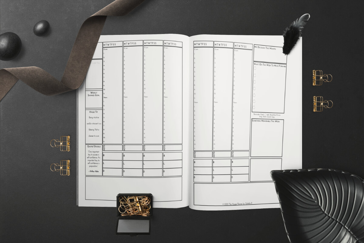 weekly layout hygge planner