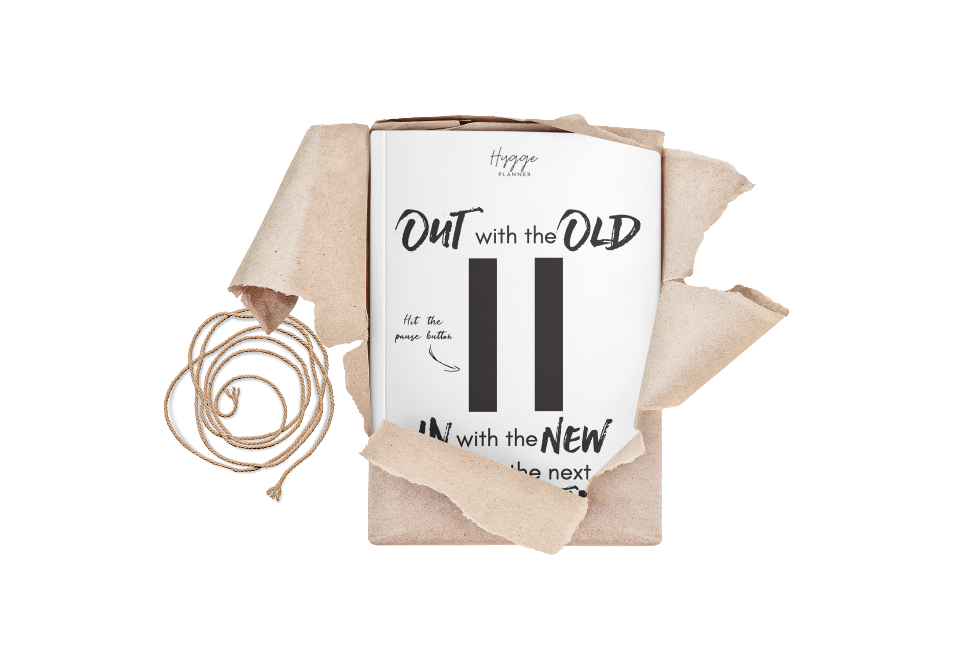 the hygge planner workbook reset out with the old